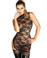 DIVALICIAOUS Lace Mini Dress - up to Size 3XL