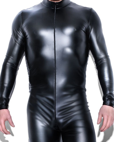 Powerwetlook Gent\'s Catsuit with 2-Way Zipper