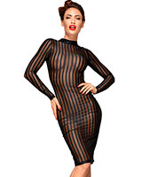 Striped Tulle Decadence Pencil Dress - up to 3XL
