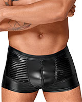 Powerwetlook Shorts with Zipper and PVC Panels