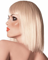 Feathered Bob - Platinum Blonde Wig