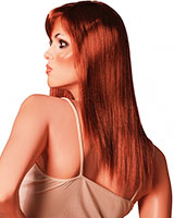 Long Straight Rusty Ginger Wig