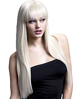 Blond Long Wig with Fringe and Curls