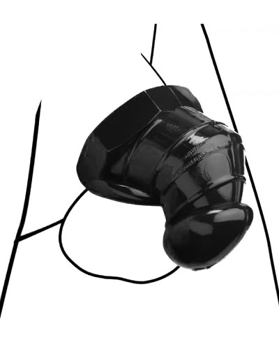DETAINED Restrictive Chastity Cage - Black