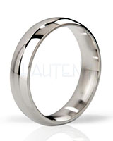 THE EARL - Round Polished Stainless Steel Cockring - 1.5 cm Wide