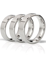 THE DUKE - Angular Polished Stainless Steel Cockring - 1.5 cm