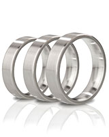 THE DUKE - Angular Brushed Stainless Steel Cockring - 1.5 cm