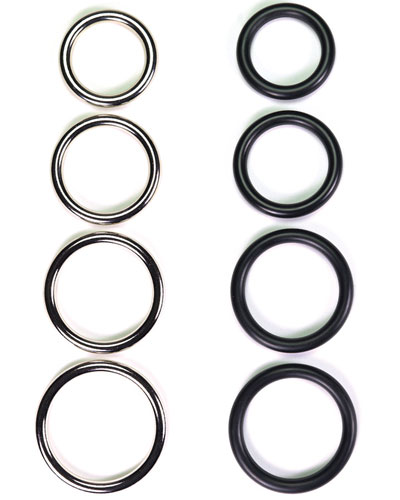 Cockring - 8 mm, Steel or Rubber