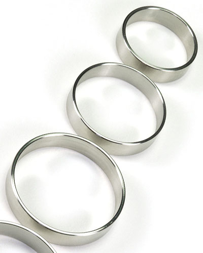 Stainless Steel Cockring - 1 cm Wide