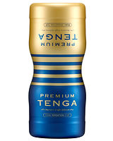 Tenga DOUBLE HOLE CUP - From the front and from the back