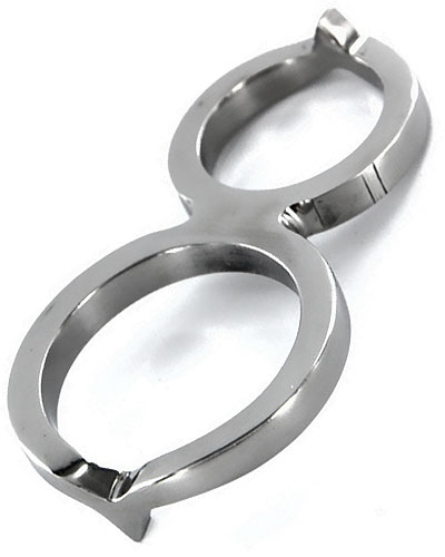 CRIMPER Stainless Steel Chastity Cock Ring
