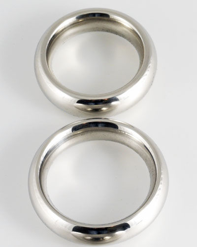 Stainless Steel Donut Cockring - 1.5 cm Wide